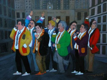 Chicago Board of Trade 40x30 Original Painting - Guy Buffet
