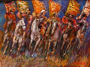 Tatars on the Move 30x40 Original Painting - Guy Buffet