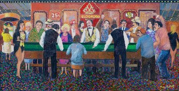 El Dorado Casino 40x20 Original Painting by Guy Buffet