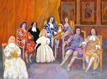 Versailles, Louis the 14th Family 30x40 Original Painting - Guy Buffet