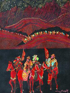 Silk Road 38x48 Original Painting by Guy Buffet