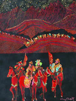 Silk Road 38x48 Original Painting - Guy Buffet