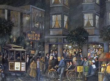 Buena Vista Restaurant 1990 34x43 San Francisco Original Painting by Guy Buffet