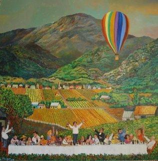 Napa Valley 1981 40x40 Original Painting - Guy Buffet