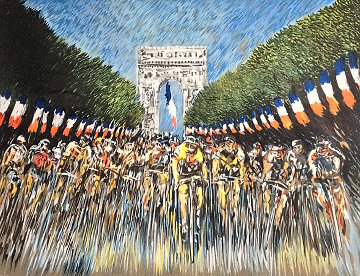 Finish Line 2000 Tour de France Limited Edition Print by Guy Buffet