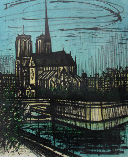 Notre Dame De Paris 1968 Limited Edition Print - Bernard Buffet