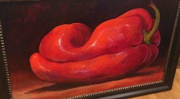 Chili Pepper 55x37 Huge Original Painting - Simon Bull