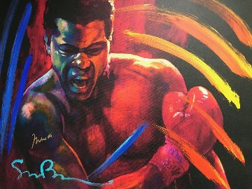 Get Up And Fight XIII 39x48 - Muhammed Ali Original Painting - Simon Bull