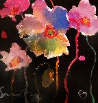 Fanfare IV 16x16 Original Painting - Simon Bull