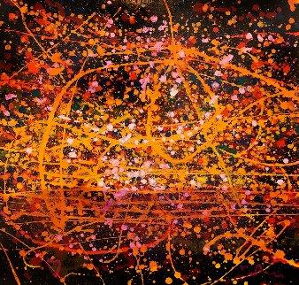 Cosmos III 36x36 Original Painting by Simon Bull