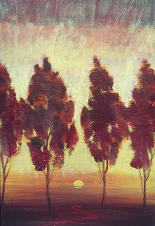 Toscana Series II - X 2007 19x31 Original Painting - Simon Bull