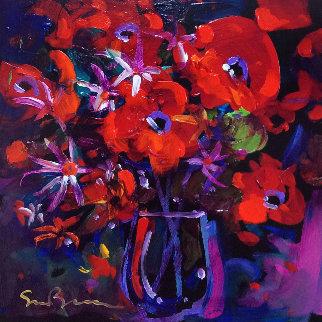 Celebration of Life 2007 16x16 Original Painting by Simon Bull