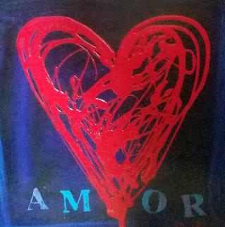 Mom Amor VIII 18x24 Original Painting by Simon Bull