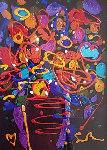 Love is the Key V 2013 29x25 Original Painting - Simon Bull