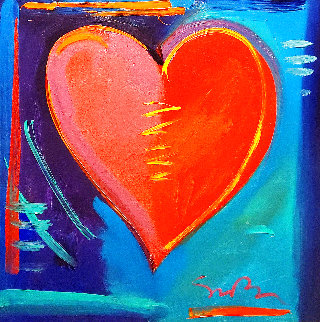 Love is in the Air IV 2008 34x34 Original Painting - Simon Bull