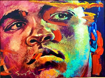 Muhammad Ali -  Reflection  2008 31x40 Super Huge HS by Ali Original Painting - Simon Bull