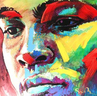 Beautiful Dreamer XIV, HS  Muhammad Ali  38x38 Original Painting - Simon Bull