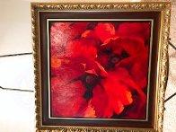 Crimson 2006 32x32 Original Painting by Simon Bull - 1