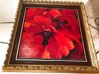 Crimson 2006 32x32 Original Painting by Simon Bull - 2