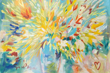 Floral Burst 56x80 Original Painting by Simon Bull
