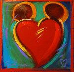 Love Story I 2011  24x24 Original Painting - Simon Bull