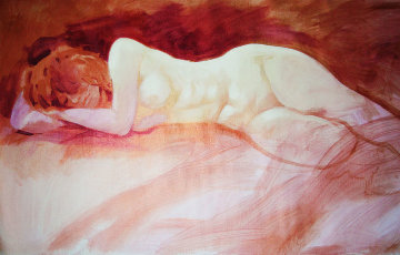 Dream Time 2000 24x54 Huge Original Painting - Simon Bull
