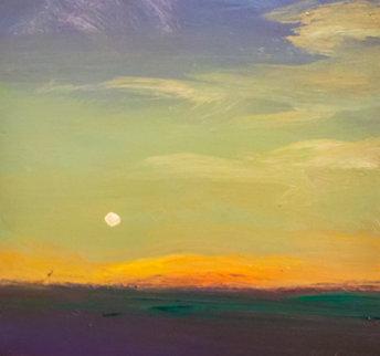 Earth Shadow Green Field, Salinas Ca. 22x22 Original Painting by Simon Bull