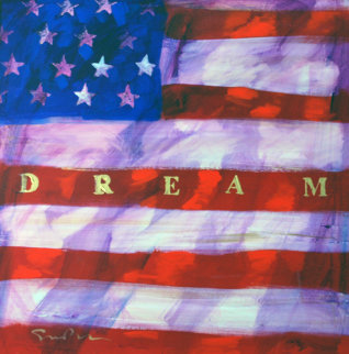 Dream Americana VIII 40x40 Original Painting - Simon Bull