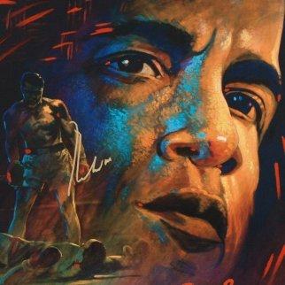 Legacy - Muhammad Ali 33x33 Hand Signed by Ali Original Painting - Simon Bull