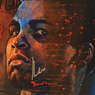 Fight Night - Muhammad Ali 33x33 Original Painting - Simon Bull