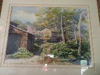 Arncliff Watercolor 1985 56x75 Super Huge Watercolor by Simon Bull - 1