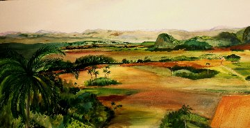 Cuban Panorama 20x40 Original Painting - Jane Bunnett