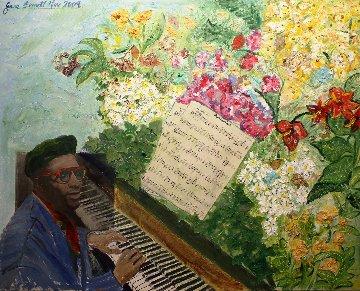 Thelonious Monk 29x31 Original Painting - Jane Bunnett