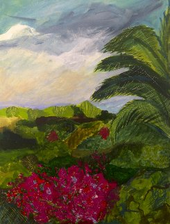 Cuba Cabin View 31x24 Original Painting - Jane Bunnett