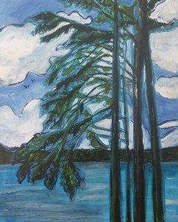 Blue Lake 39x31 Original Painting - Jane Bunnett