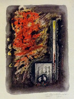 Abstraction Watercolor 1982 15x11 Watercolor by Hans Burkhardt - 0