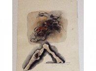 Untitled Watercolor 1979 12x8 Watercolor by Hans Burkhardt - 1