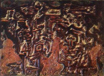 Untitled Unique Lithograph 1978 Limited Edition Print by Hans Burkhardt
