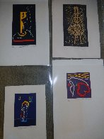 4 Untitled Linoleum Cuts 1975 Limited Edition Print by Hans Burkhardt - 4