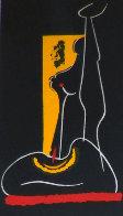 4 Untitled Linoleum Cuts 1975 Limited Edition Print by Hans Burkhardt - 0