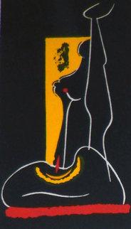 4 Untitled Linoleum Cuts 1975 Limited Edition Print - Hans Burkhardt