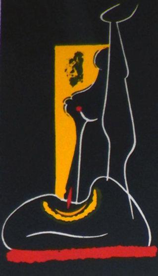 4 Untitled Linoleum Cuts 1975 Limited Edition Print by Hans Burkhardt