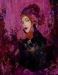An Invitation 2004 47x35 Original Painting - Richard Burlet