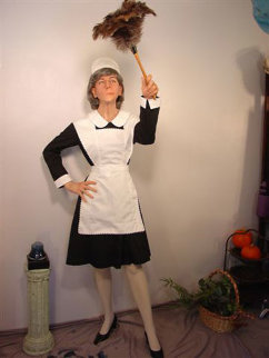 Mildred (Maid) Life Size Sculpture 70 in  Sculpture - Rob Burman
