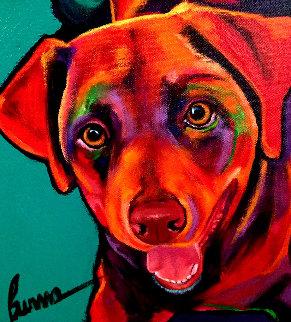 Hunter 2008 12x12 Original Painting by Ron Burns