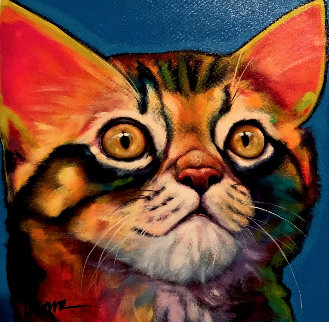 Bailey 2007 20x20 Original Painting - Ron Burns