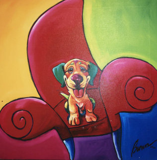Red Gumby Chair   Limited Edition Print - Ron Burns