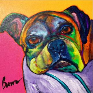 Teddy Original 2008 12x12 Original Painting - Ron Burns