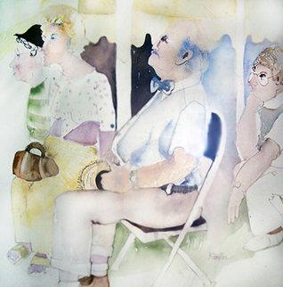 Untitled Watercolor 1978 47x43 Huge Watercolor - Karen Butler