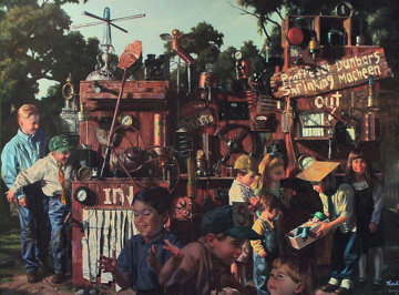 Incredible Shrinking Machine Embellished 1997 Limited Edition Print by Bob Byerley